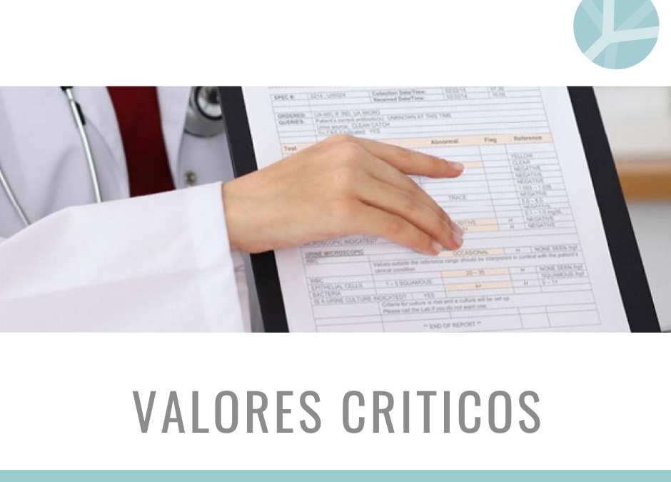 VALORES CRITICOS EN EL LABORATORIO CLINICO